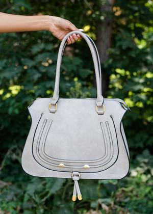 Impress Me Hobo Handbag Gray