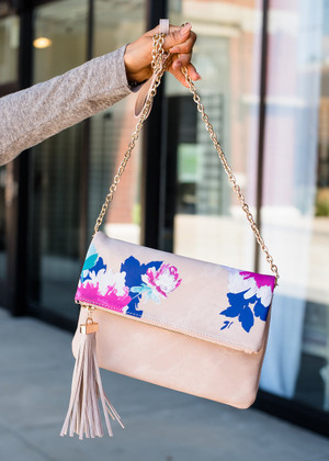 Truly Unforgettable Floral Chain Bag Blush