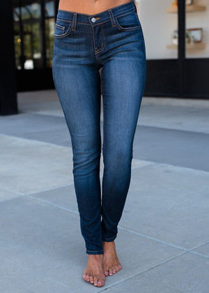 Perfectly Denim Dark Plain Jeans
