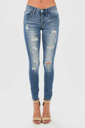 Only The Best Distressed Skinny Jeans