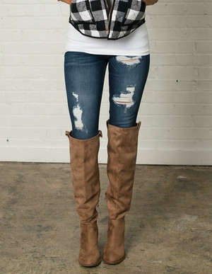 Greatest Love Story Skinny Distressed Jeans