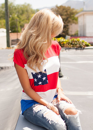 Sweet Land Of Liberty Top CLEARANCE