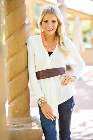 Simply Me Cardigan Ivory CLEARANCE