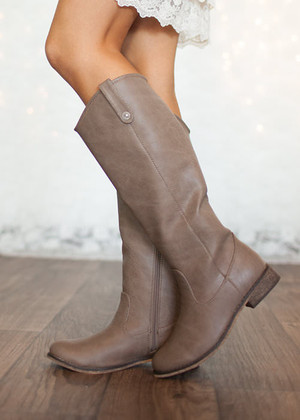 Season Change Riding Boots Taupe CLEARANCE