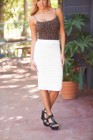State of the Perfection Pencil Skirt White CLEARANCE