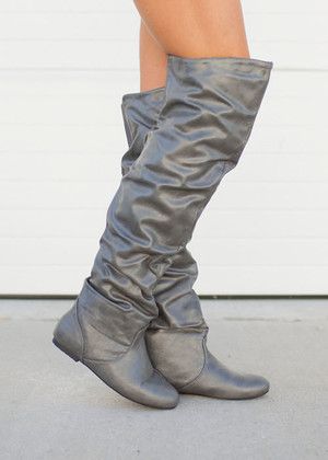 High Water Fashion Boots Charcoal CLEARANCE