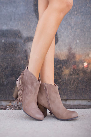 Side Fringe Bootie CLEARANCE