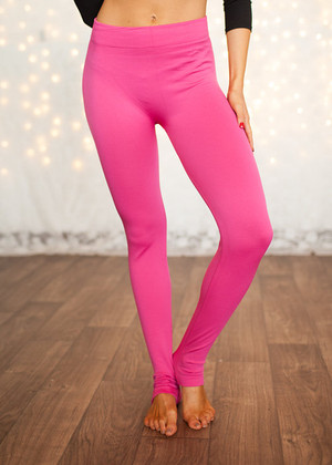 Fleece Leggings Hot Pink CLEARANCE
