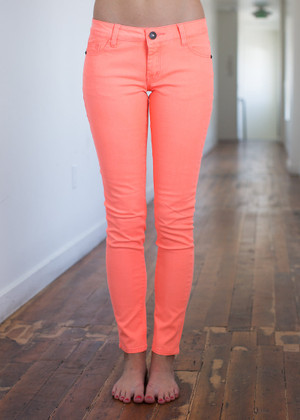 Superb Jeggings Neon Orange