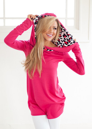 Can't Resist Hoodie Hot Pink CLEARANCE