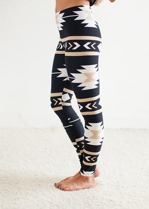 Dark Storm Aztec Leggings