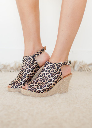 Lustful with Leopard Wedges CLEARANCE