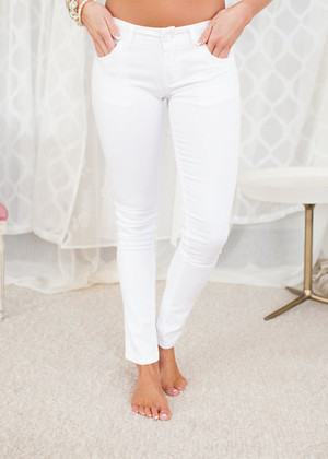 Fits Perfectly White Jeggings CLEARANCE