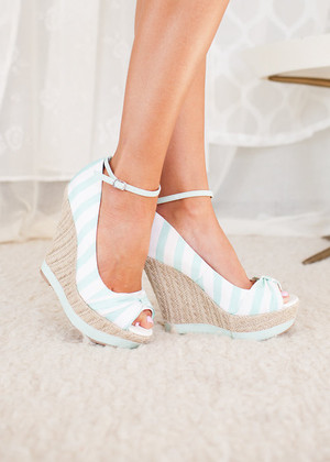 Sail with Me Mint Wedges CLEARANCE