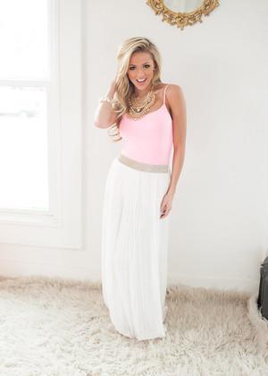 Idolized White Maxi Skirt CLEARANCE
