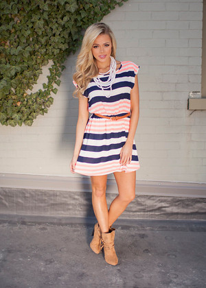 Sweet as Peaches Dress in Neon Pink