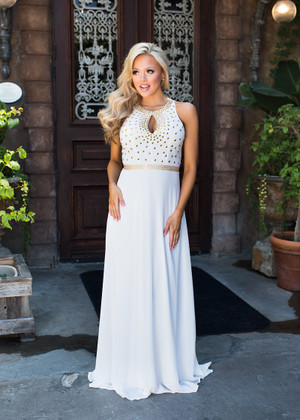 Breathtaking Studded Maxi Dress  CLEARANCE