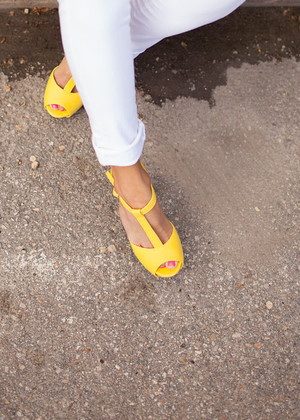 Sunshine Yellow Heels Clearance