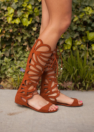 Butterfly Brown Gladiator Sandals CLEARANCE