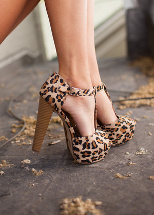 Sassy Leopard Heels CLEARANCE