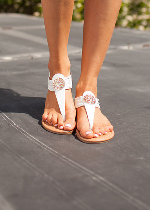 White Spring Fling Sandals CLEARANCE