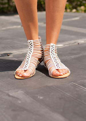 Secretive Summer Sandals White CLEARANCE