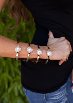 Put Together Pearl and Cuff Bracelet CLEARANCE