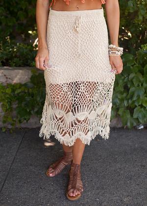 Shoreline Skirt in Beige CLEARANCE