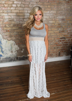 Always In Love Lace Maxi Gray