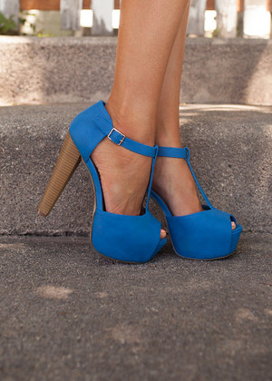 Sweet and Sassy Blue Heels CLEARANCE