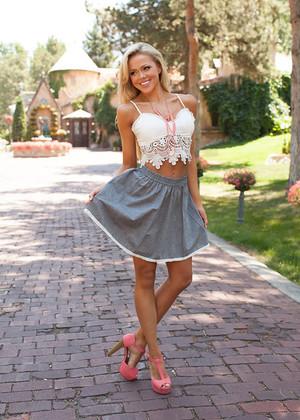 Gray Denim Trimmed Skirt CLEARANCE