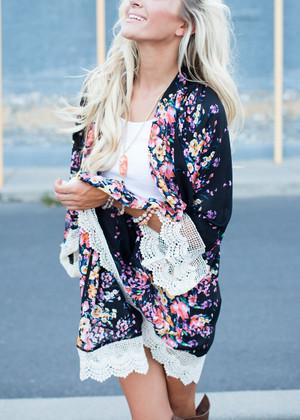Impeccable Floral Lace Kimono