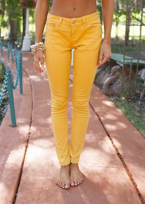 Finest Mustard Skinny Jeans