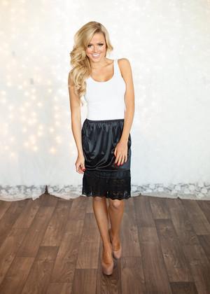 Black Lace Long Skirt Extender