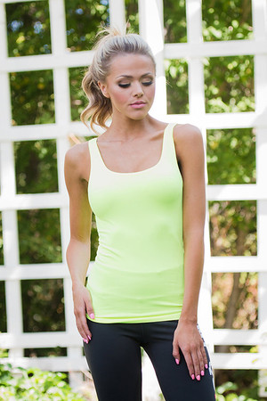 Neon Yellow Basic Workout Tank