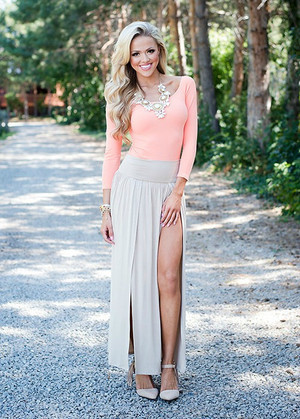 Spicy in a Skirt Taupe CLEARANCE