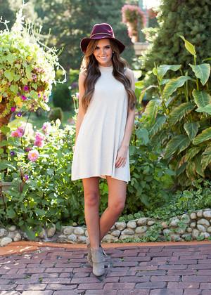 Striking Beauty High Neck Dress Beige