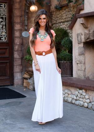 Trend Setter Maxi Skirt White CLEARANCE