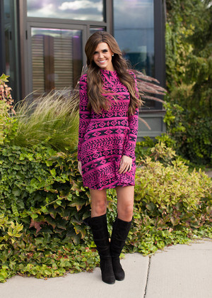 Serene and Soft Dress Magenta CLEARANCE