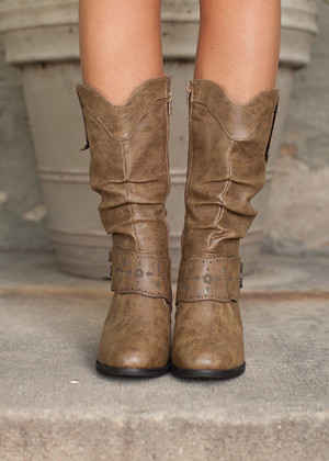 Struttin' My Style Boots Brown CLEARANCE