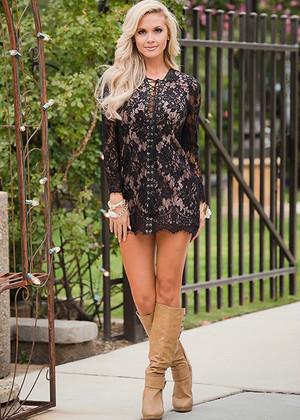 Believe In Love Design Tunic Dress Black