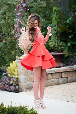 A-Line Ruffle Lace Beauty Dress