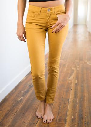 Wonderous Mustard Jeans CLEARANCE
