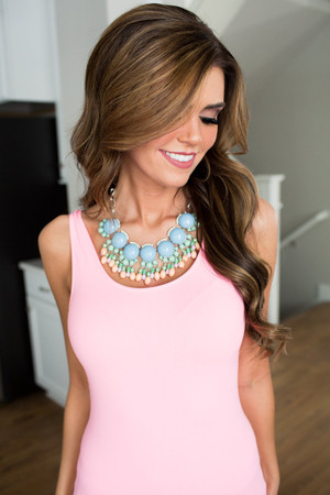 Spring Fever Bubble Necklace Set Blue CLEARANCE