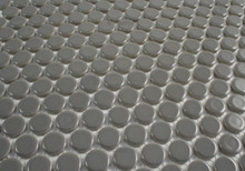 Dark Grey Gloss Porcelain Penny Round Mosaic tile