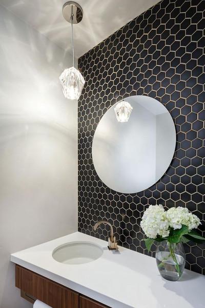 Black Hexagonal Mosaic Tiles 51mm Buy Online Now Direct Importer