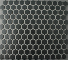 Black Matt Hexagonal Mosaic 23mm