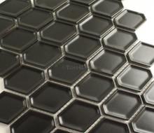 Matt Black Internal Honeycomb Mosaic 47x60mm