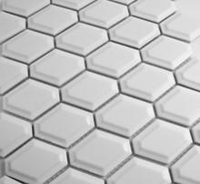 Matt White External Honeycomb Mosaic Tiles