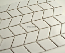 48mmx48mm Rhombus White Gloss Porcelain Mosaic